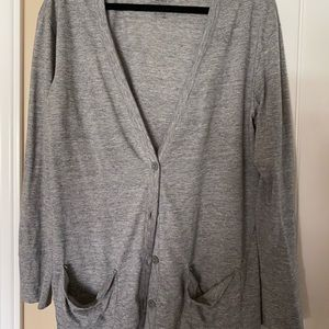 Heatherd gray lightweight cardigan